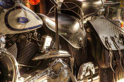 Harley Davidson, Motorcycles, Davidson, Chrome, Shiny