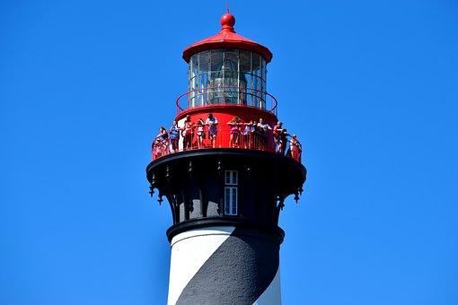 St, Augustine, Florida, Lighthouse, Beacon, Tourism