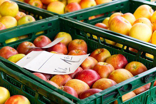 Market, Market Stall, Apple, Harvested, Food, Colorful
