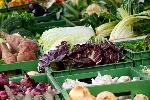 Vegetables, Fresh, Market, Market Stall