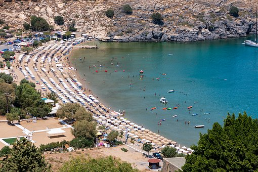 Beach Chairs, Coastline, Sea, Water, Coast, Holiday