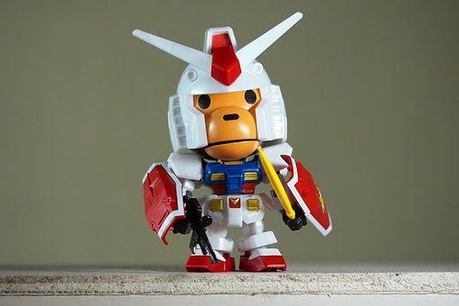 Baby, Milo, Gundam, Model, Plastic, Chibi, Kit, Bandai