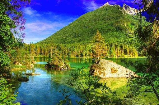 Hintersee, Ramsau, Alpine, Landscape, Nature, Bavaria