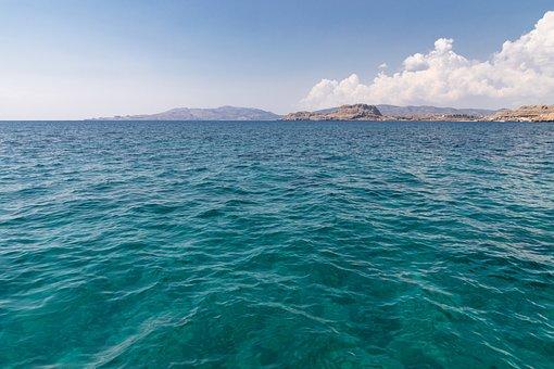 Water, Horizon, Bright, Blue, Sea, Nature, Landscape