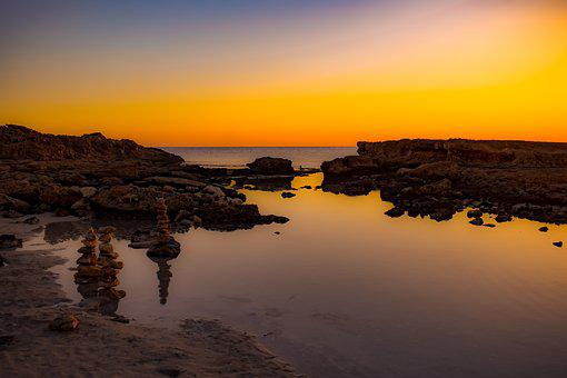 Twilight, Sunset, Landscape, Nature, Evening, Dusk, Sea