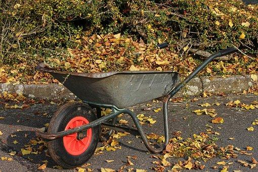 Wheelbarrows, Wheelbarrow, Leaves, Collect, Recharge