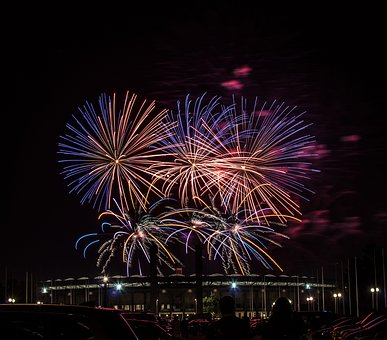 Fireworks, Light, Night, Radio, Celebration