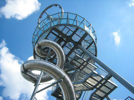Metal, Sculpture, Slide, Steel Mesh, Weil Am Rhein