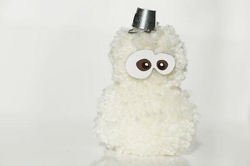 Pompom, Snowman, Funny, Furry, Wool, Thread, Needlework