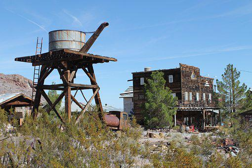 Usa, Nevada, Mining, El Dorado, Nelson, Ghost Town