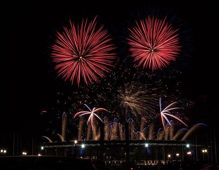 Fireworks, Pyrotechnics, Celebration, Light, Explosion