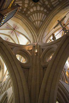 Wells, Cathedral, England, Architecture, Religion