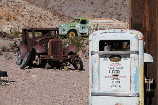Old Car, Rusty Car, Usa, Nevada, Mining, El Dorado