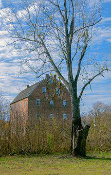 Scenic, Country, Mill, Rural, Nature, Landscape, Trees