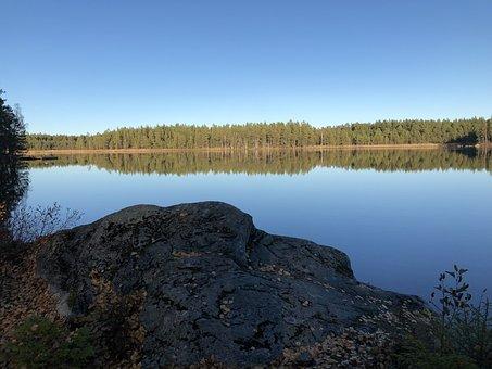 Lake, Solar, Nature, Water, Sky, Sea, Scenic