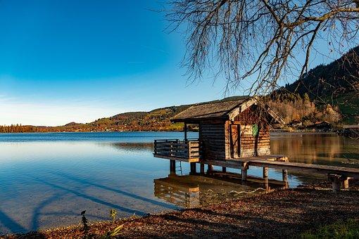 Schliersee, Lake, Sky, Bavaria, Water, Landscape