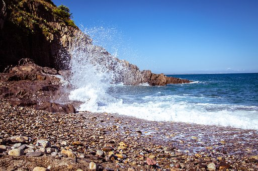 Beach, France, Sea, Coast, Landscape, Nature, Water