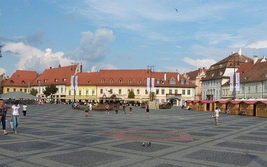 Sibiu, Romania, Transylvania, Historic Center