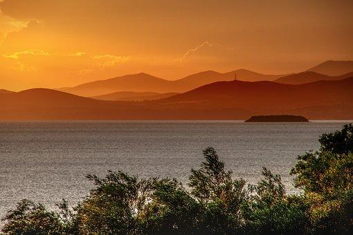 Sunset, Sky, Abendstimmung, Twilight, Landscape, Nature