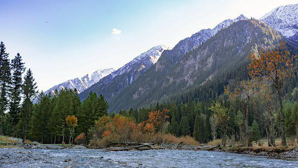 Autumn, Fall, River, Panjgur, Kumrat, Valley, Upperdir