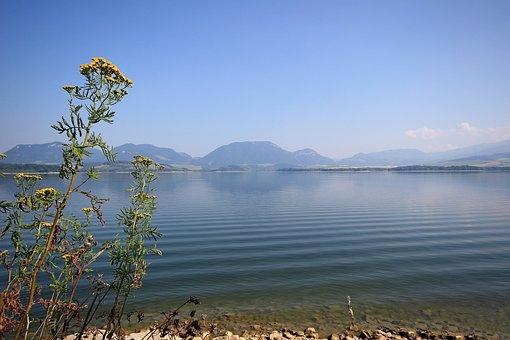 Slovakia, Lake, Landscape, Mountains, Water, View