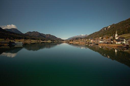 Weisensee, Lake, Water, Mirroring, Nature, Landscape