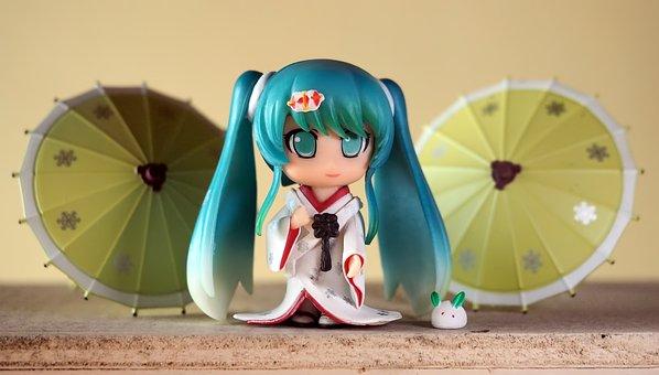 Miku, Young, Lady, Girl, Female, Japanese, Anime