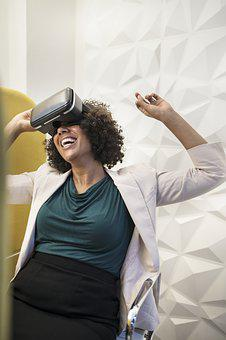 Vr, African American, Afro, American, Amused, Amusement