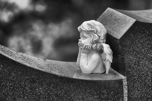 Angel, Cemetery, Sculpture, Angel Figure, Decoration