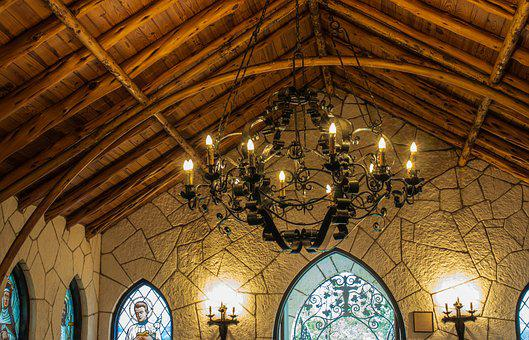 Chapel, Church, Architecture, Old, Light, Wooden Beams