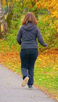 Jogger, Autumn, Park, Run, Woman, Movement, Sporty