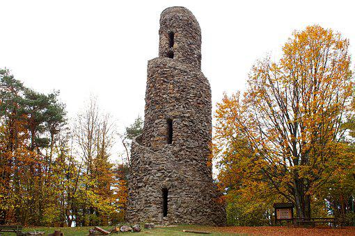 Tower, Stone, Autumn, Architecture, Places Of Interest