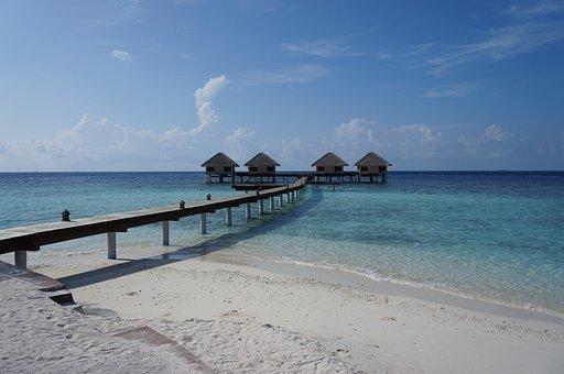 Maldives, Sea, Water, Summer, Beach, Travel, Sand