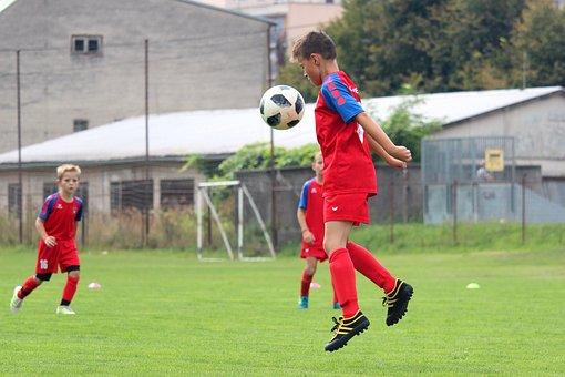 Football, Pupils, Younger Pupils, Boy, Footballer, Ball