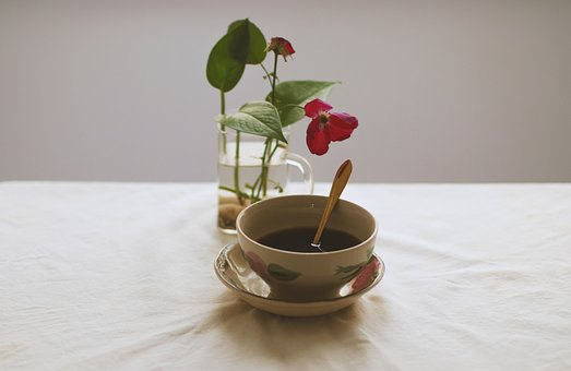 Flower, Caffee, Board, Break, Decoration, Cup