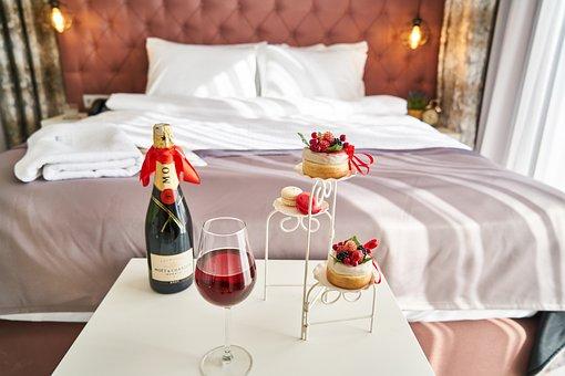Wine, Fruit, Bed, Hotel, Service, Celebration, Special