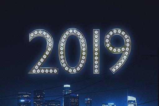 New Year, 2019, Celebration, Year, Season, Joy