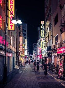 Tokyo, Neon, Night, Street, Asia, Ueno, City, Japan