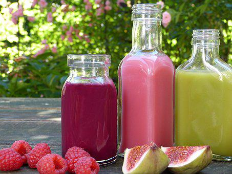 Smoothies, Juice, Fruit, Healthy, Colorful, Bottle