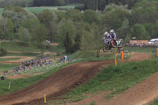 Motocross, Team, Cross, Action, Motocross Ride
