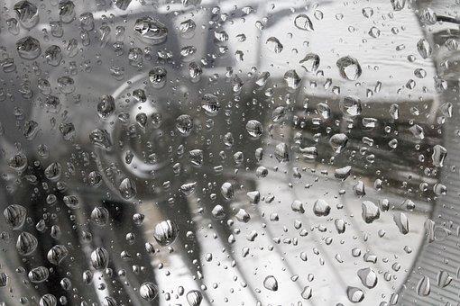 Rainwater, Headlight, Trickle, Glass, Drop, Wet, Non