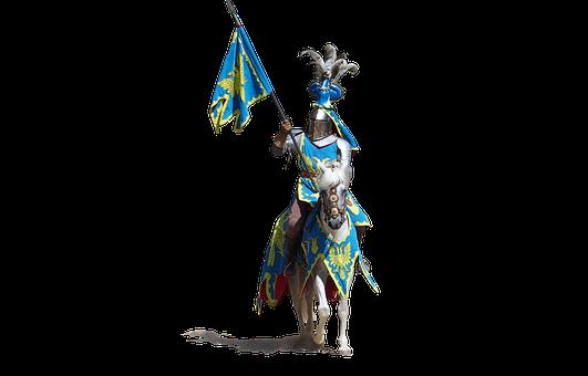 Knight, Armor, Medieval, Flag, Historical, Helmet