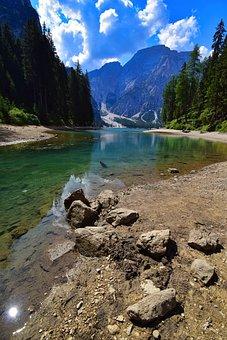 Braies, Mountain, Landscape, Italy, Lake, Tourism
