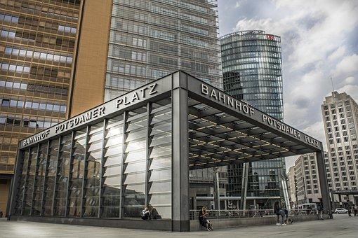 Potsdam Place, S-bah, Architecture, Berlin, Metro