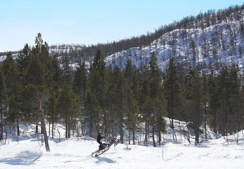 Mountain, Winter, Scooter, Himmel, Mountain Top, Fells