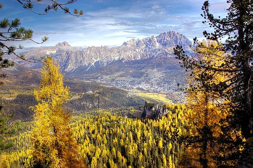 Cortina D Ampezzo, Dolomites, Italy, Mountains