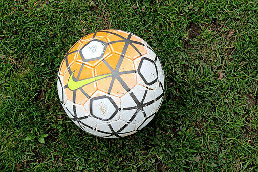 Football, Ball, Grass, Nike, Illustrative Photo