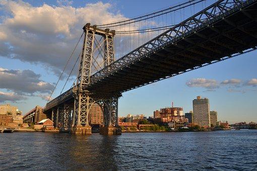 Bridge, Manhattan, Nyc, New York, Building