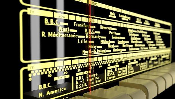 Old Radio, Frequency Scale, Retro, Radio, Analogue