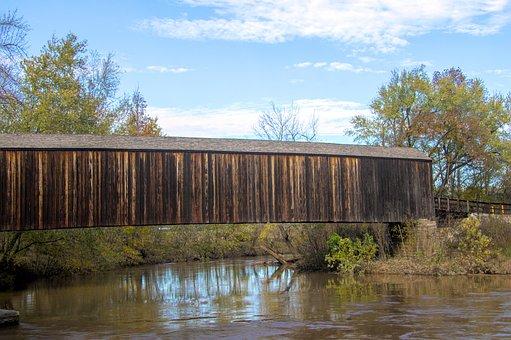 Bridge, Wood, Wooden, Nature, Railing, Old, Landscape